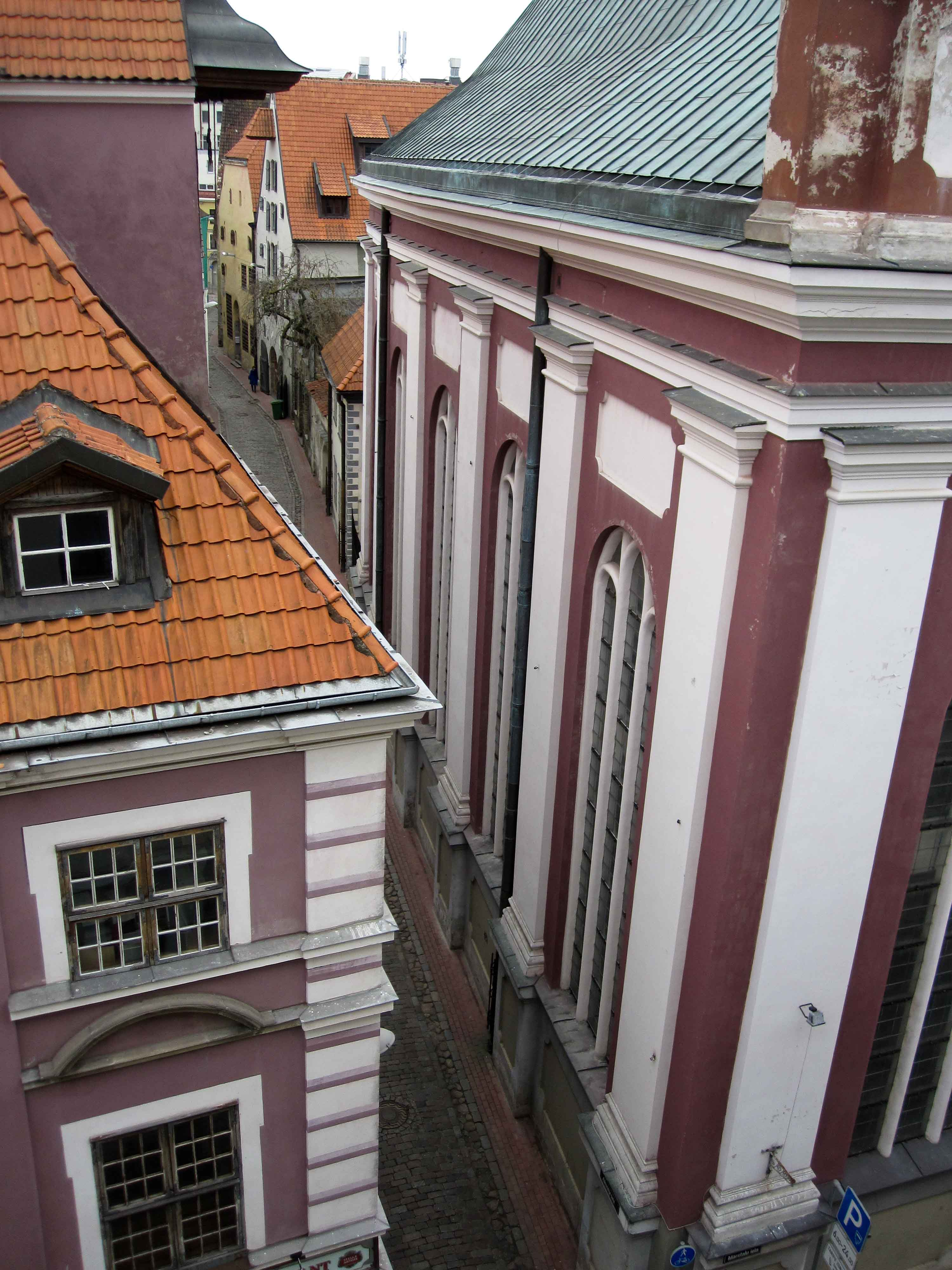 View from my window in the old city of Riga