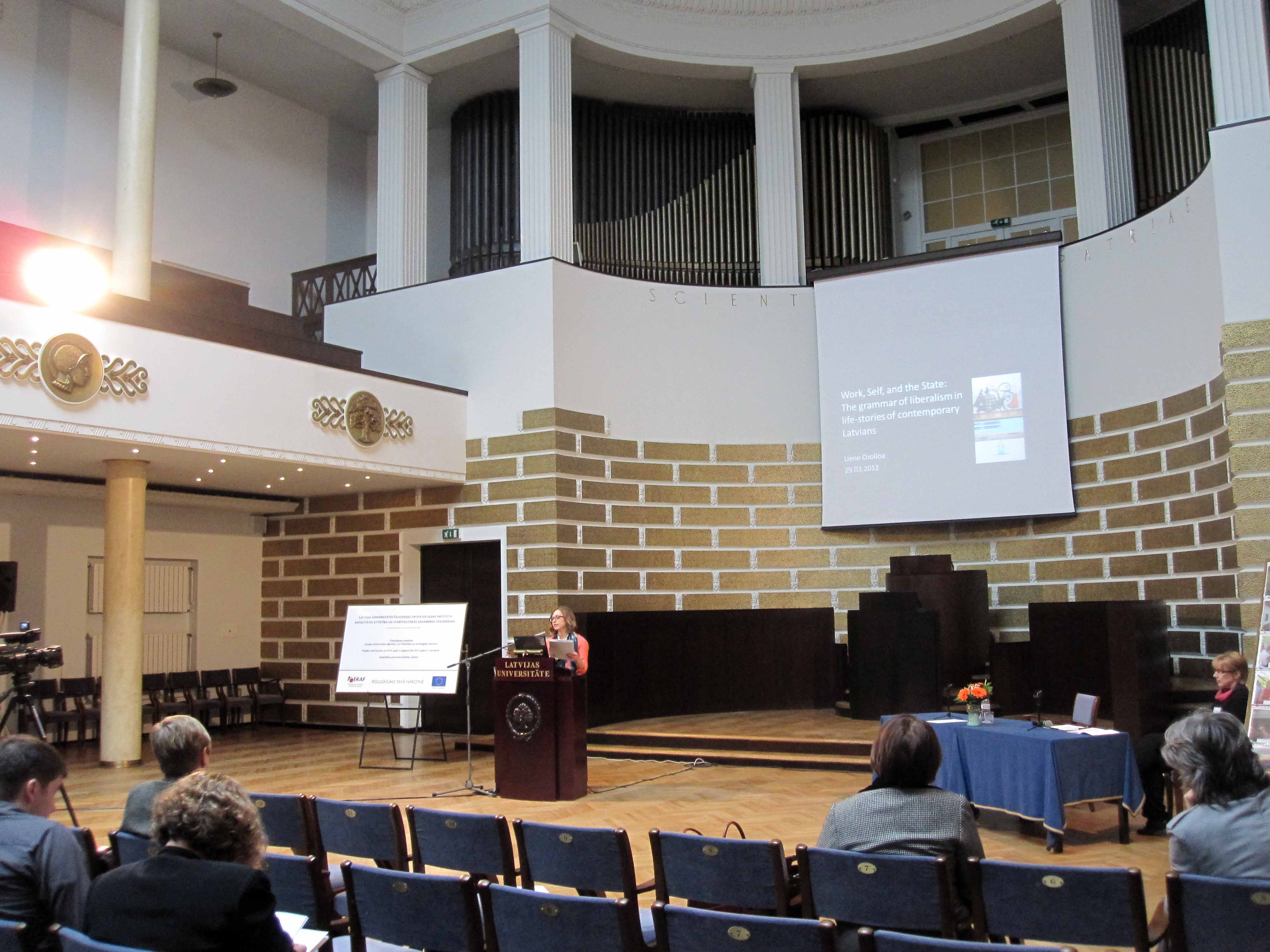 Keynot speeches in the Aula of the University
