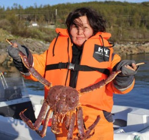 Anna with a King Crab