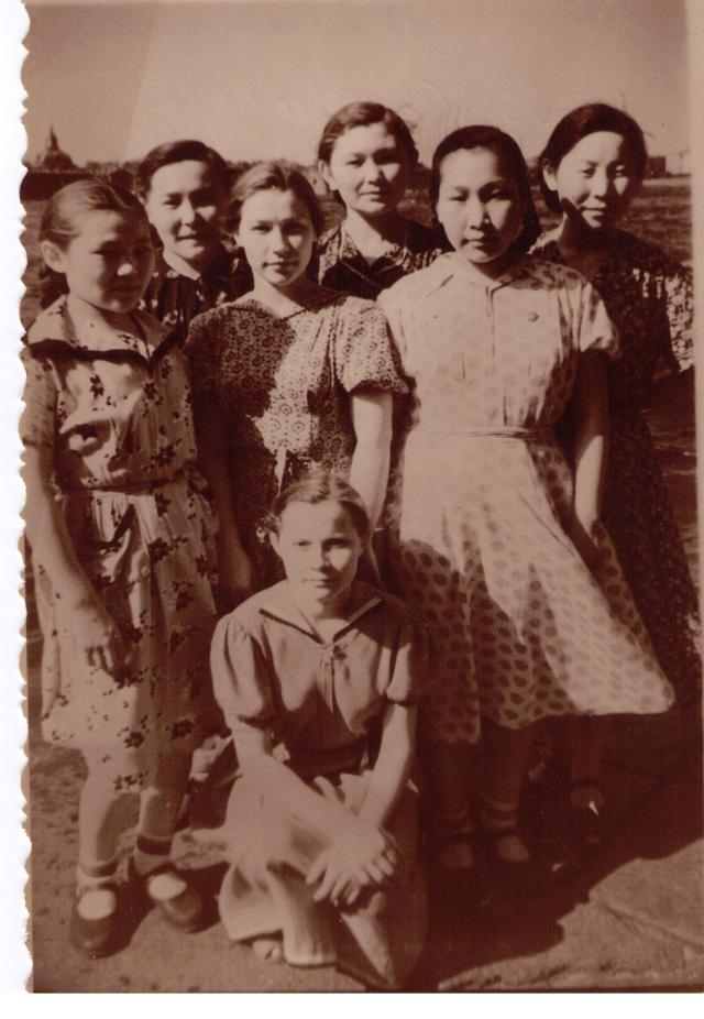 Children from several northern indigenous peoples attending the Northern Peoples university studies preparation faculty at the Herzen Pedagogical University in Leningrad