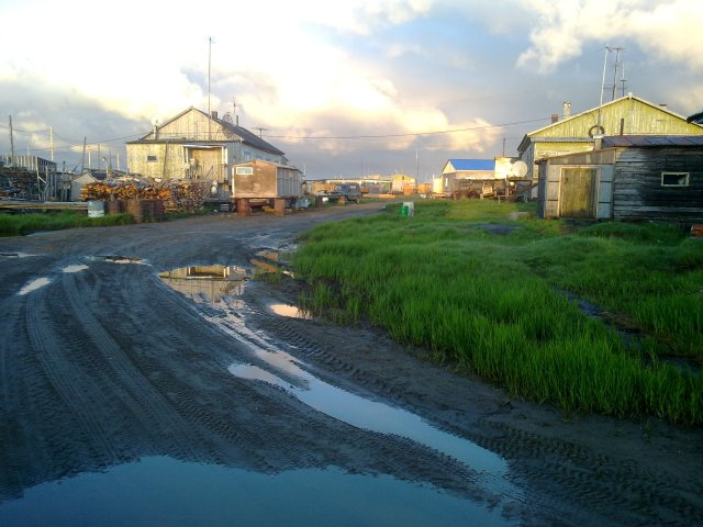 Bykov Mys, fishing village at the mouth of the Lena River at the Laptev Sea