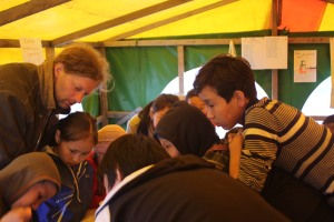 children in the camp didn't stop asking questions about our fieldwork in the North