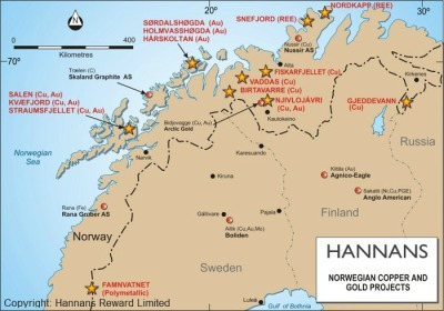 Hannans norwegian-copper-gold-projects