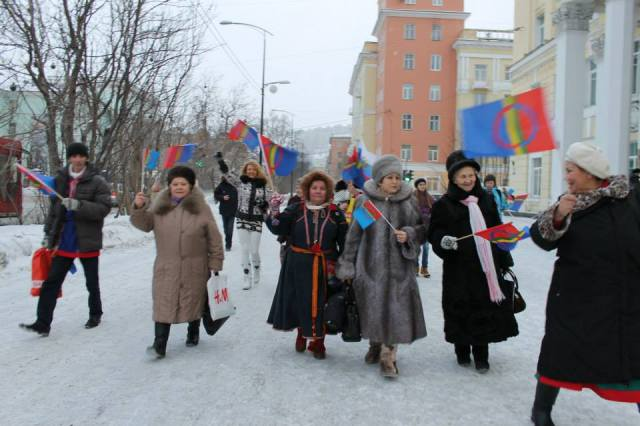 Celebrating the Sami Day in Murmansk 6 February 2014. Photo by V. Sovkina.
