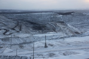 The open pit mine because of which Neryungryi was established