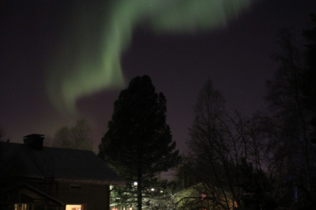 Northern lights in Rovaniemi, Finland, as a christmas present 24 December 2014