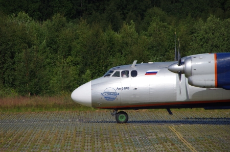 The An-24 just arrived at Solovki