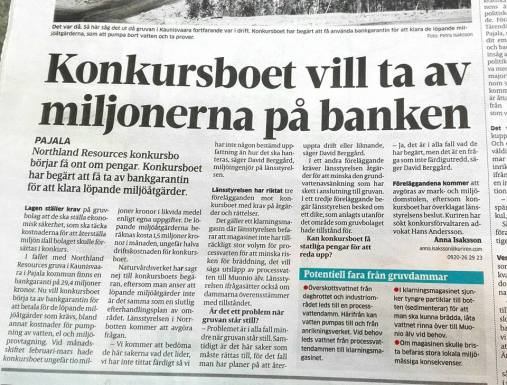 Kuriren om Northland Resources konkursbo